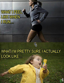 What I think I look like when run. What I actually look like when I run