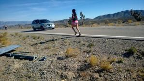 Running in the desert!