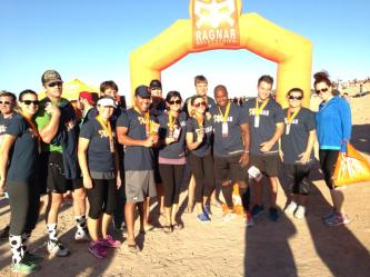 Our whole team at the finish line!