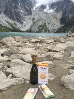 Hiking should always involve champagne!